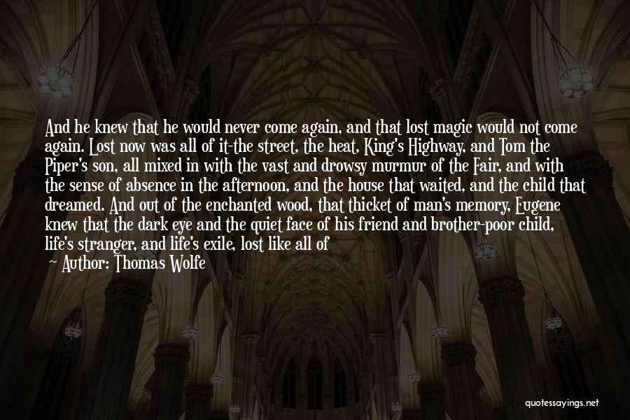 I Lost Him Forever Quotes By Thomas Wolfe