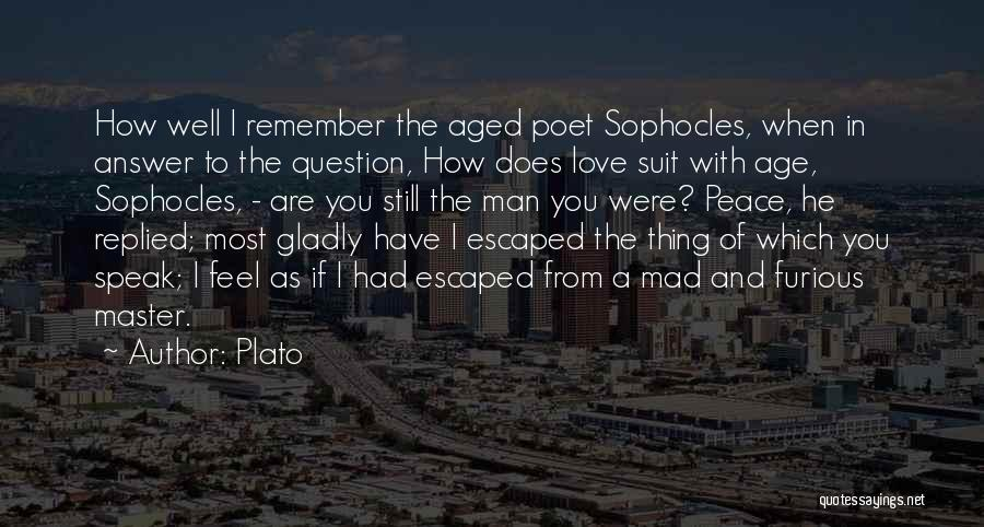 I Love A Man In A Suit Quotes By Plato