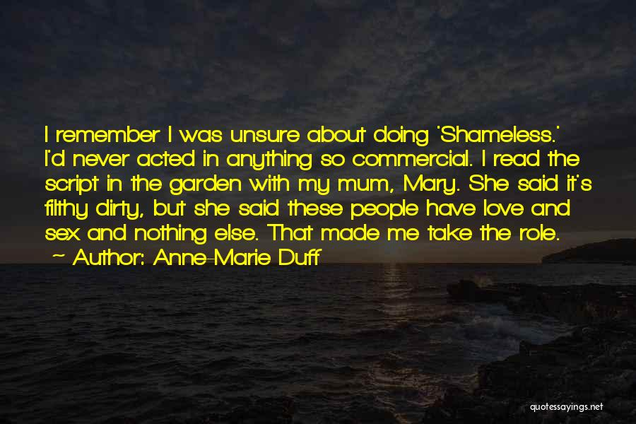 I Love Doing Nothing Quotes By Anne-Marie Duff