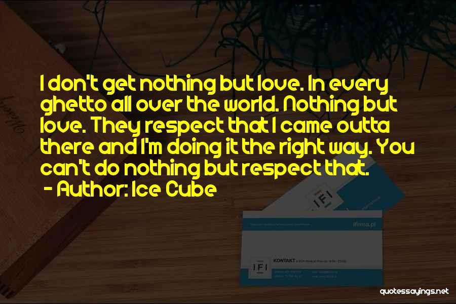 I Love Doing Nothing Quotes By Ice Cube
