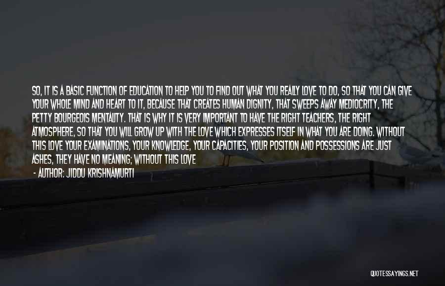 I Love Doing Nothing Quotes By Jiddu Krishnamurti