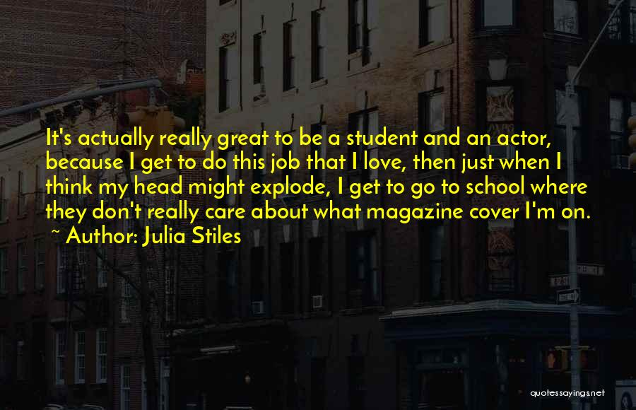 I Love My Job Because Quotes By Julia Stiles