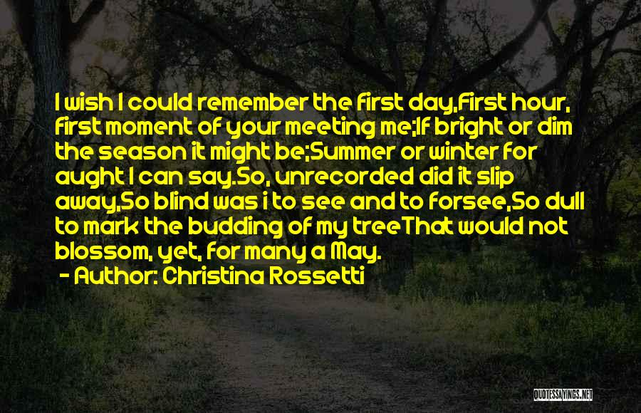 I Love Quotes By Christina Rossetti
