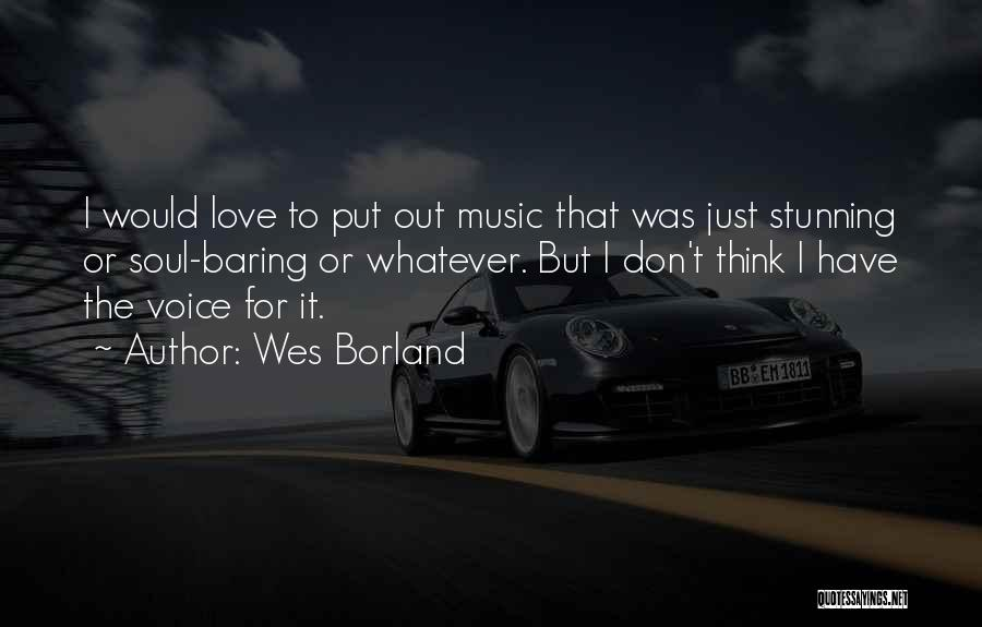 I Love Soul Music Quotes By Wes Borland