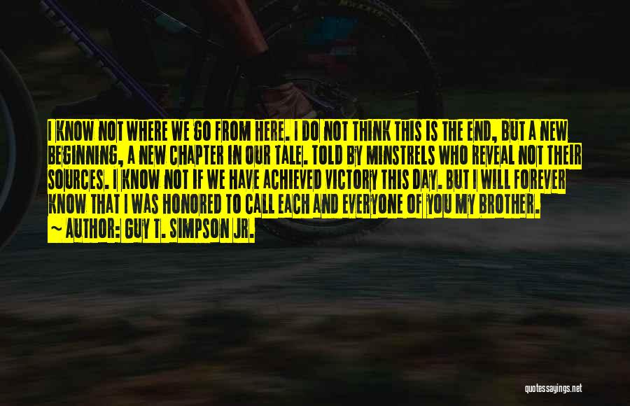I Love U Brother Quotes By Guy T. Simpson Jr.