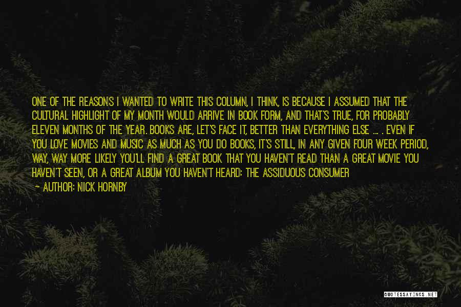 I Love You Book Quotes By Nick Hornby