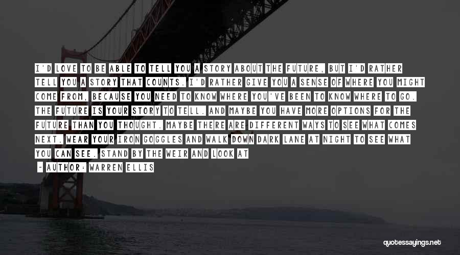 I Love You But I Need Time Quotes By Warren Ellis