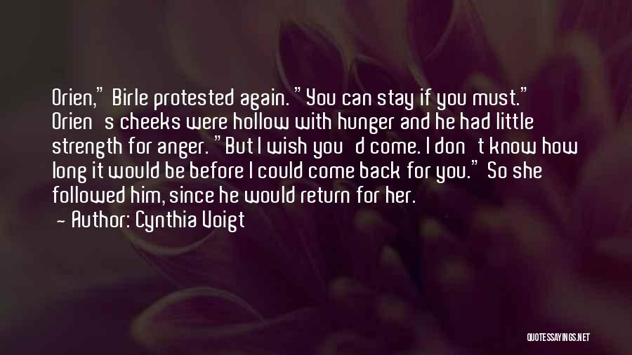 I Love You For Him Quotes By Cynthia Voigt