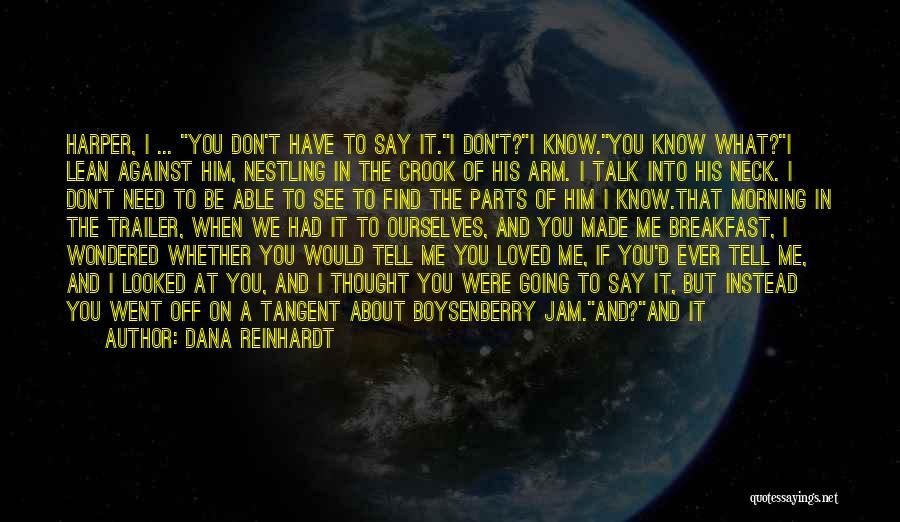 I Love You For Him Quotes By Dana Reinhardt
