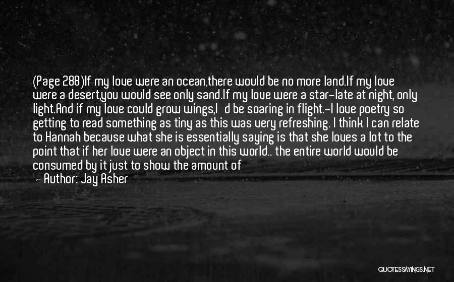 I Love You More Poems And Quotes By Jay Asher