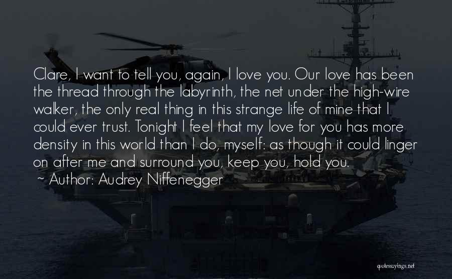 I Love You More Than My Life Quotes By Audrey Niffenegger