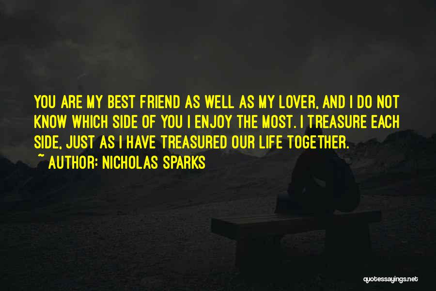I Love You My Best Friend Quotes By Nicholas Sparks