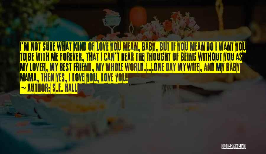 I Love You My Best Friend Quotes By S.E. Hall