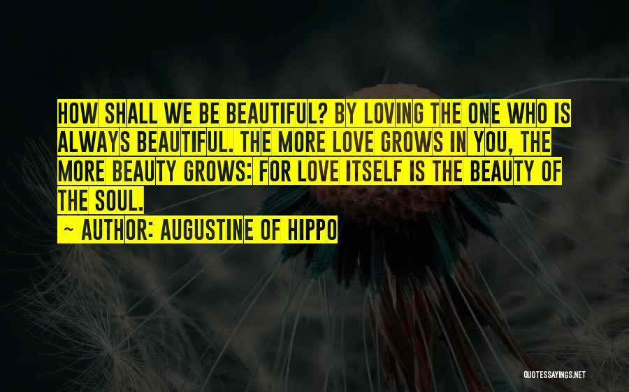 I Love Your Beautiful Soul Quotes By Augustine Of Hippo