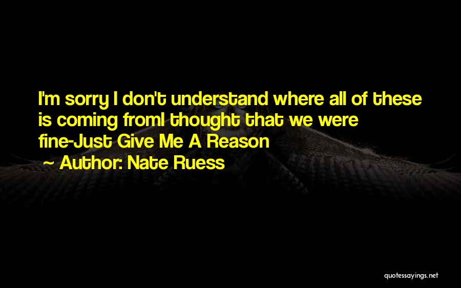 I M Sorry Quotes By Nate Ruess