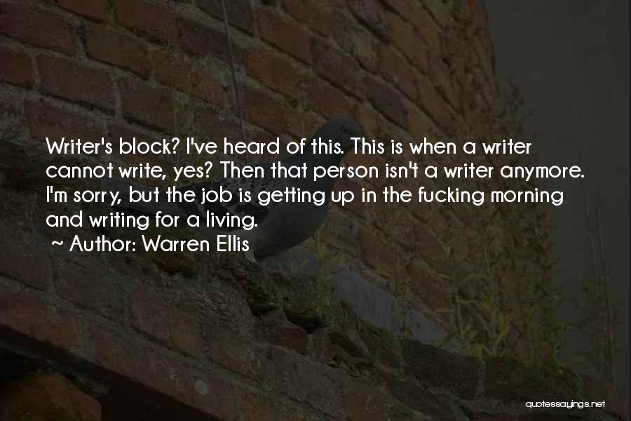 I M Sorry Quotes By Warren Ellis