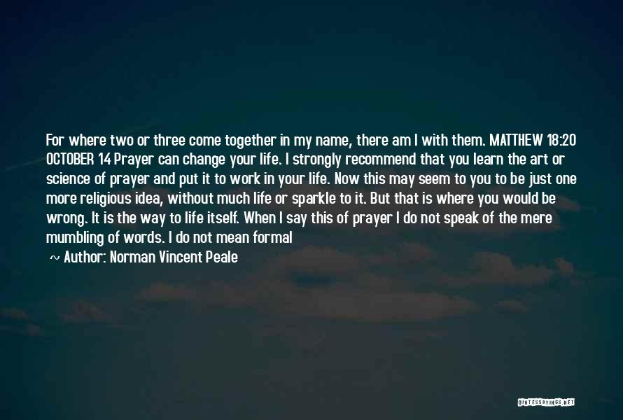 I May Not Say Much Quotes By Norman Vincent Peale