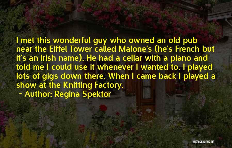 I Met This Guy Quotes By Regina Spektor