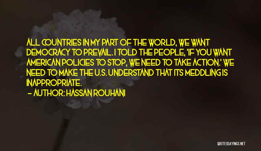 I Need U Quotes By Hassan Rouhani