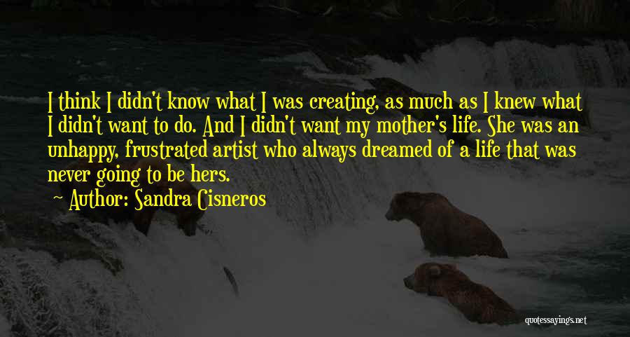 I Never Know What I Want Quotes By Sandra Cisneros