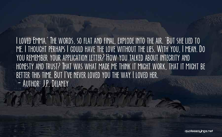 I Never Thought Love Quotes By J.P. Delaney
