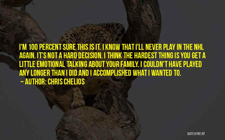 I Play Hard To Get Quotes By Chris Chelios