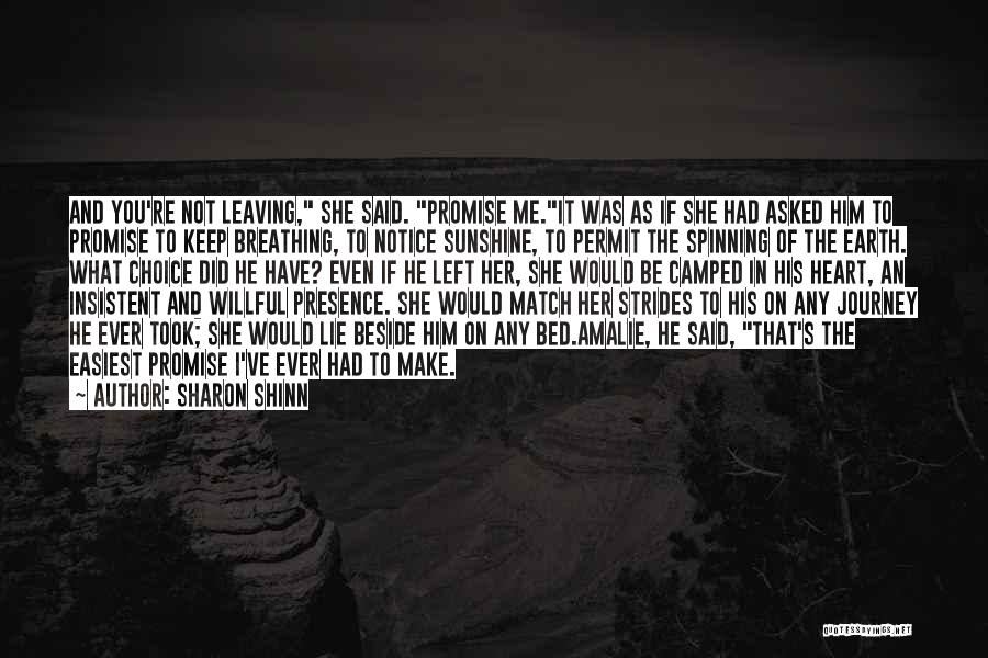 I Promise Romantic Quotes By Sharon Shinn