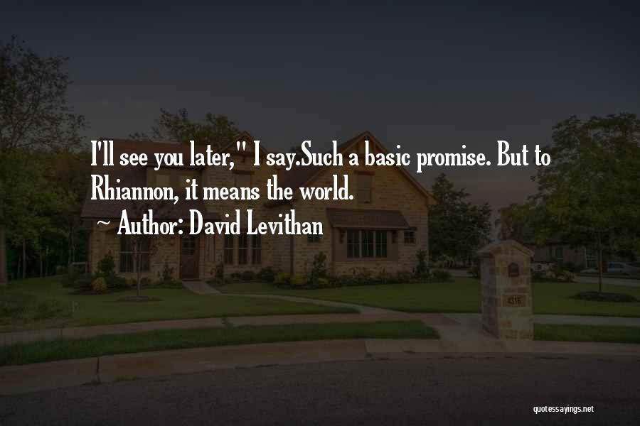 I Promise You The World Quotes By David Levithan