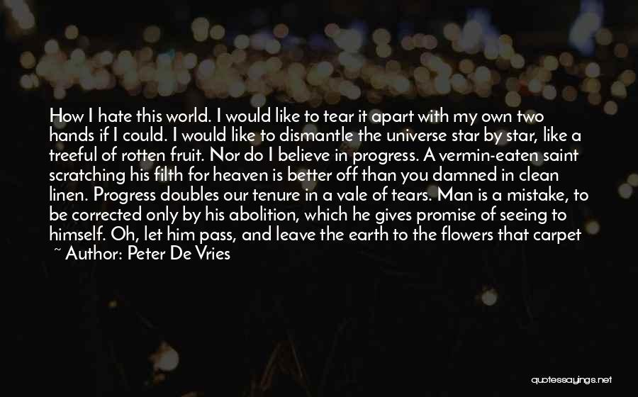 I Promise You The World Quotes By Peter De Vries