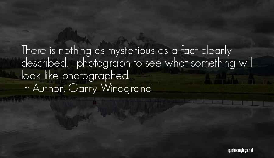 I See Clearly Quotes By Garry Winogrand