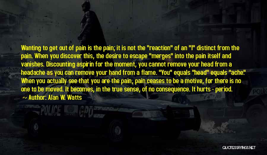 I See Your Pain Quotes By Alan W. Watts