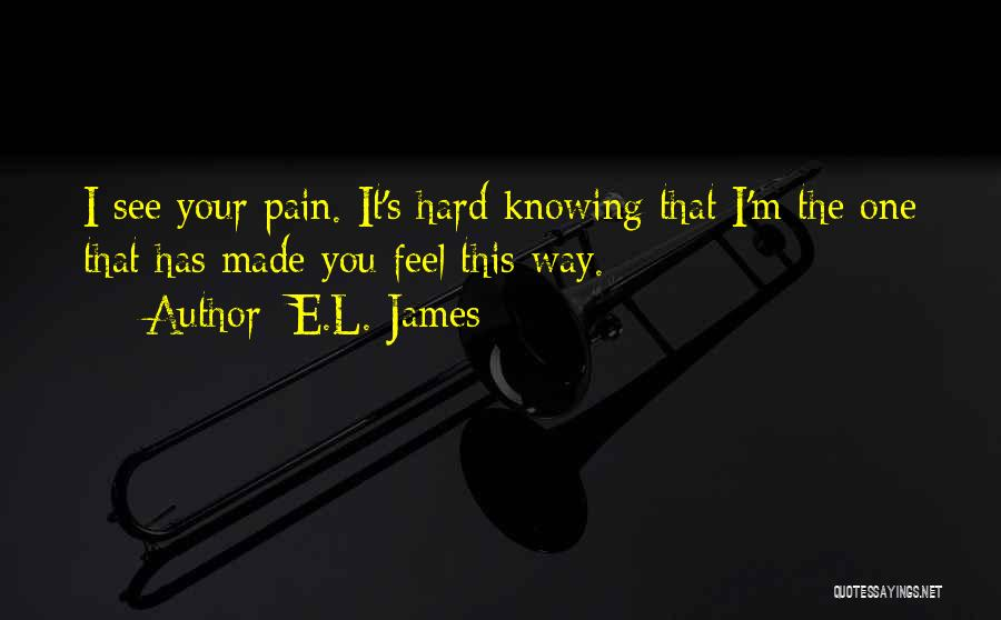 I See Your Pain Quotes By E.L. James
