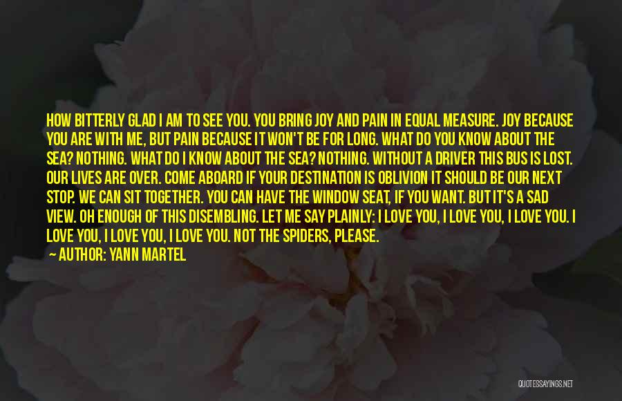 I See Your Pain Quotes By Yann Martel