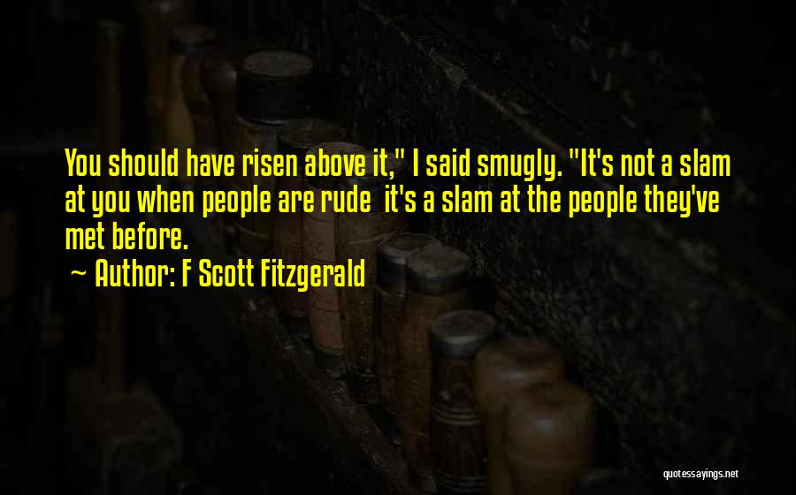 I Should Have Met You Before Quotes By F Scott Fitzgerald