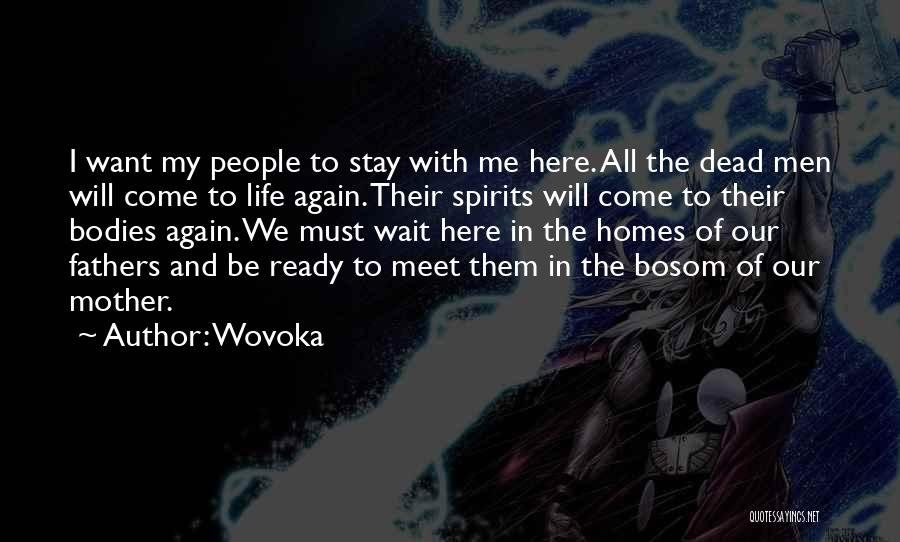 I Stay Ready Quotes By Wovoka