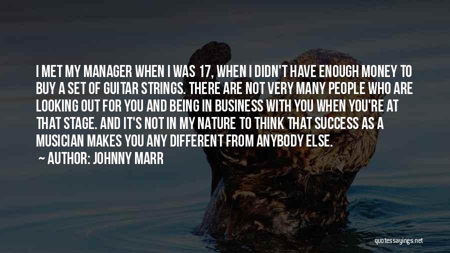 I Think You Different Quotes By Johnny Marr