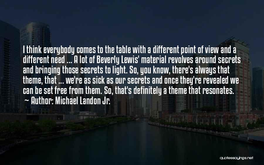 I Think You Different Quotes By Michael Landon Jr.