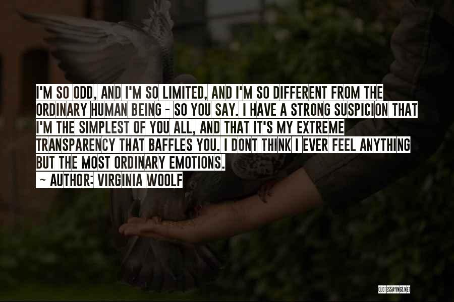 I Think You Different Quotes By Virginia Woolf