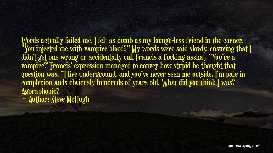 I Thought You're My Friend Quotes By Steve McHugh