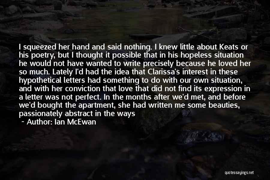 I Tried Enough Quotes By Ian McEwan