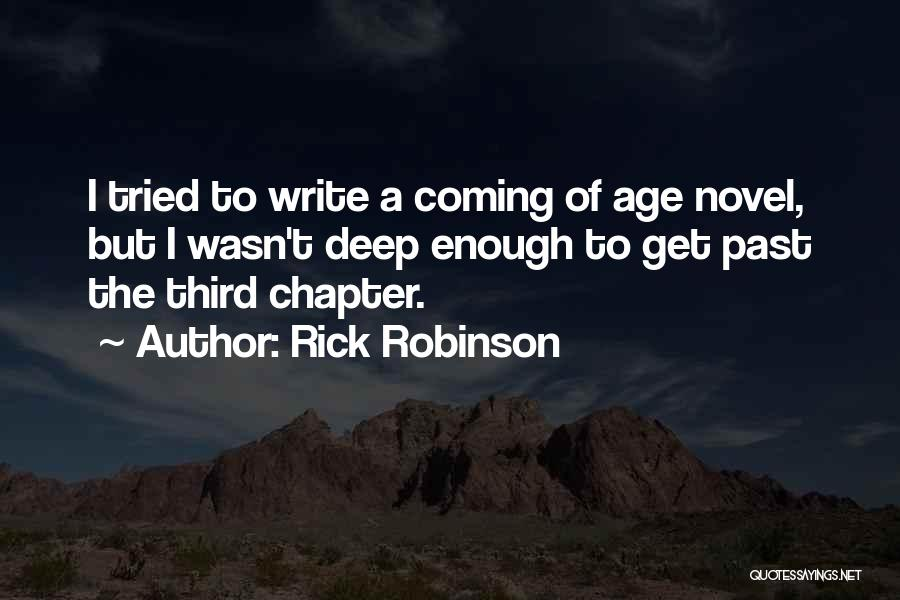 I Tried Enough Quotes By Rick Robinson