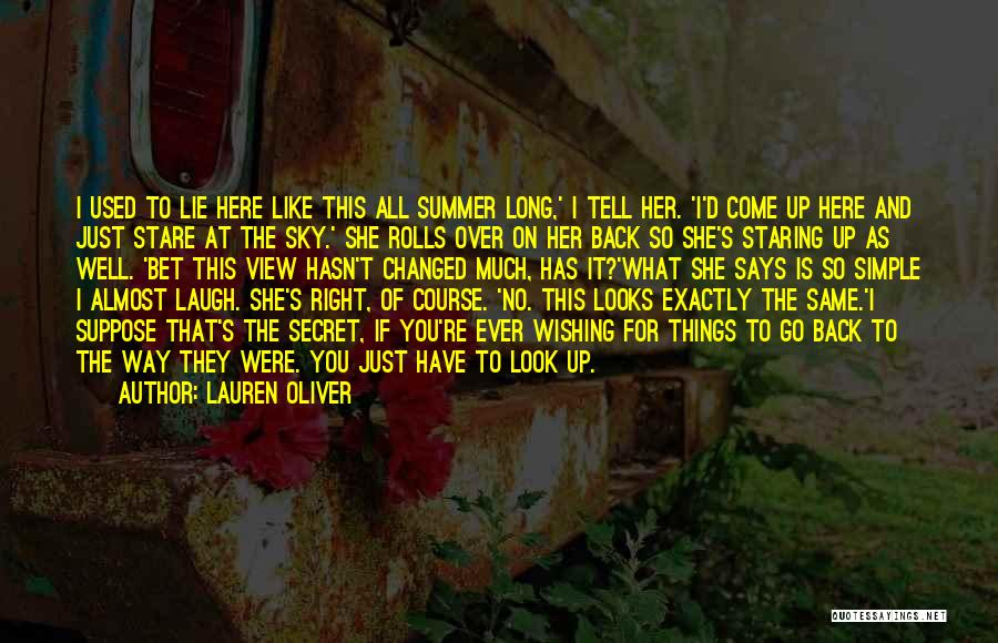 I Used To Look Up To You Quotes By Lauren Oliver