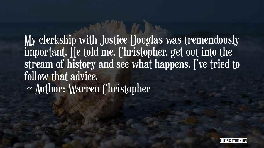 I Ve Tried Quotes By Warren Christopher