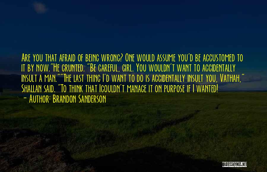 I Want A Man That Quotes By Brandon Sanderson