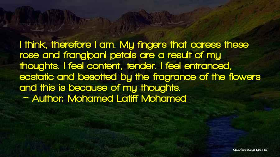 I Want Flowers Just Because Quotes By Mohamed Latiff Mohamed