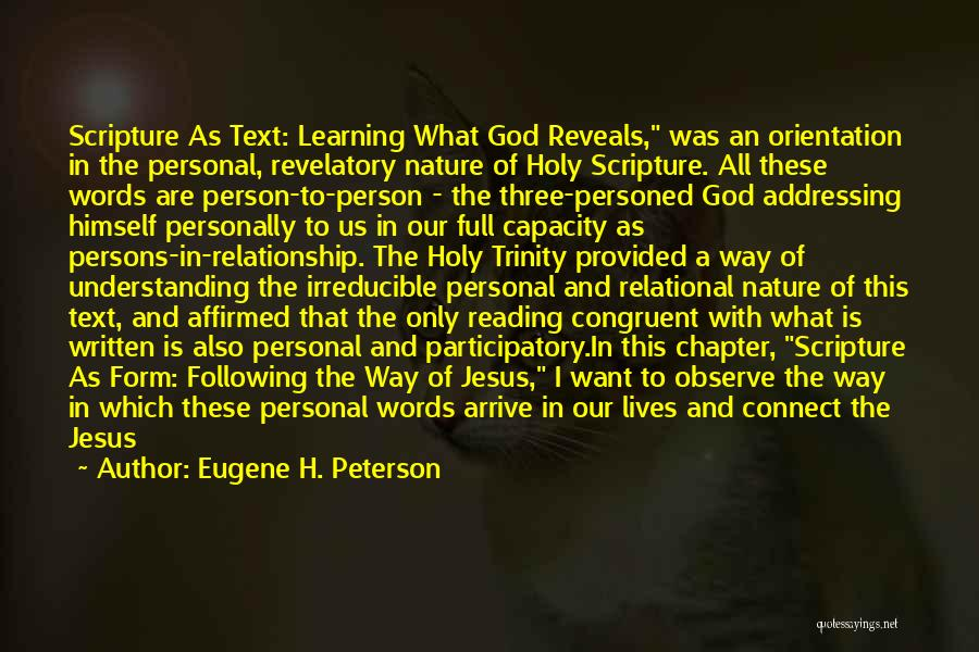 I Want This Relationship Quotes By Eugene H. Peterson