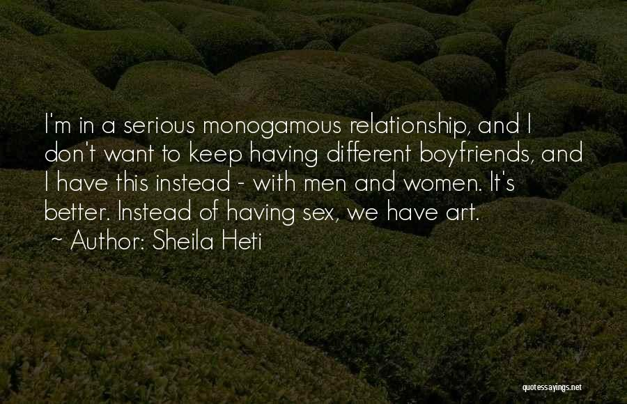 I Want This Relationship Quotes By Sheila Heti