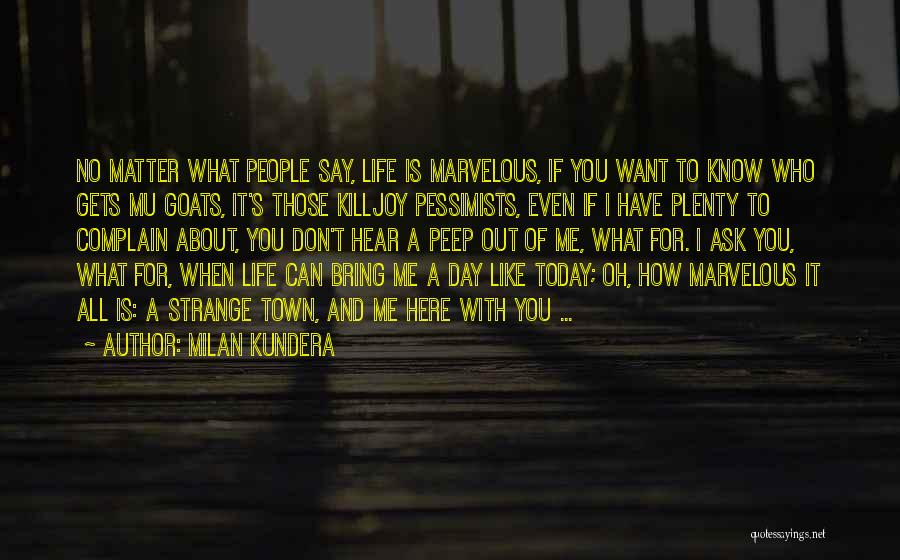 I Want To Ask You Out Quotes By Milan Kundera