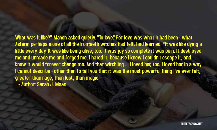 I Want To Be Alone Forever Quotes By Sarah J. Maas