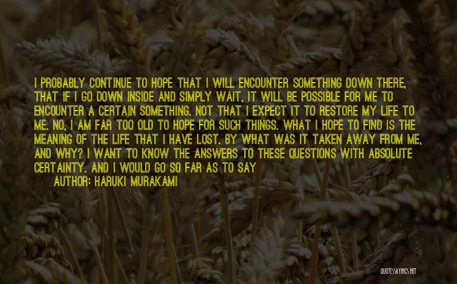 I Want To Be Something More Quotes By Haruki Murakami
